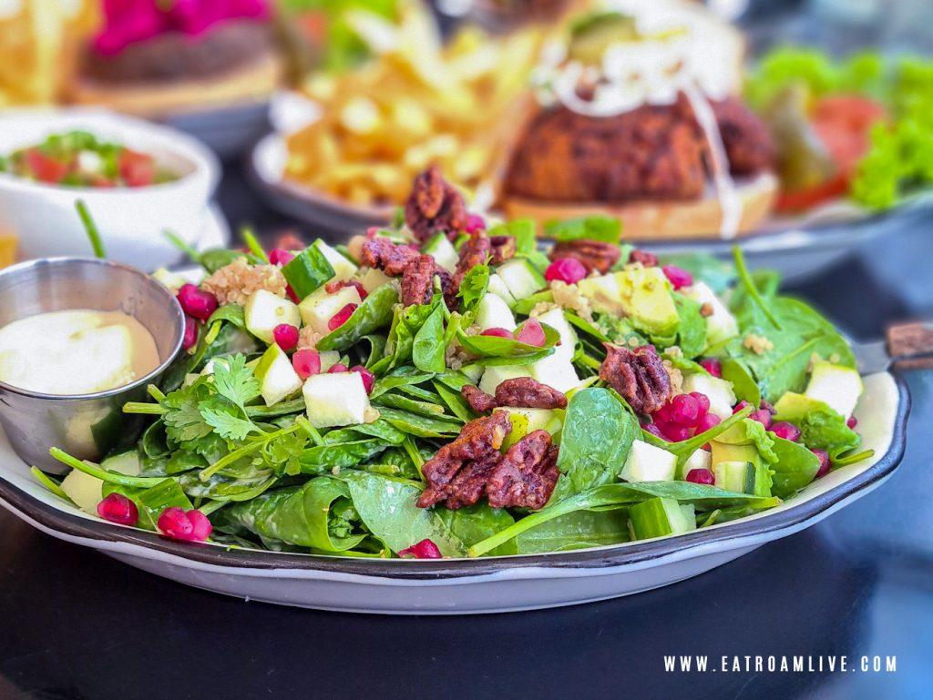 Vegan Spinach Salad at Black Tap Singapore: Review